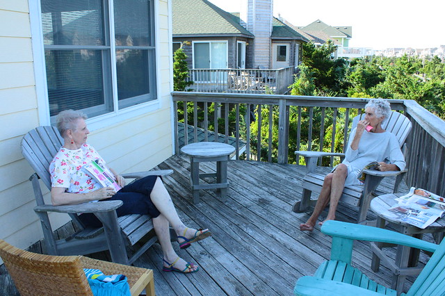 Grandmothers on the deck