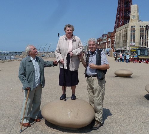 Three old foggies in Blackpool