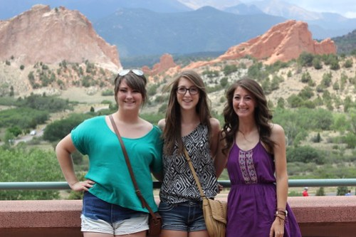Z Crew: Taylor, Callie and Jenna at Garden of the Gods