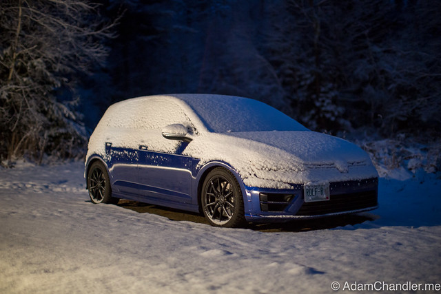 Golf R In The Snow - 2016