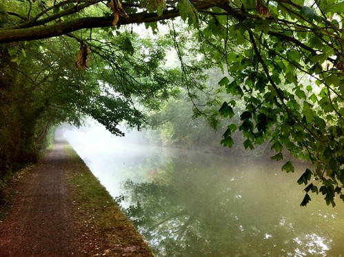 Misty Canal Path by RickyRew