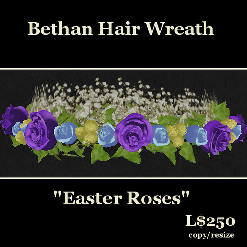 Hatpins - Bethan Wreath - Easter Roses