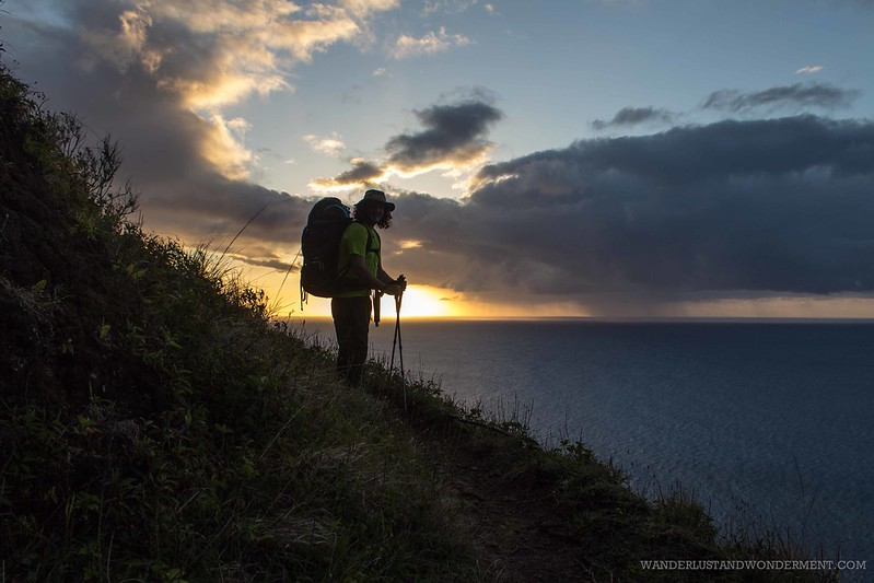 End of the day on the Kalalau Trail