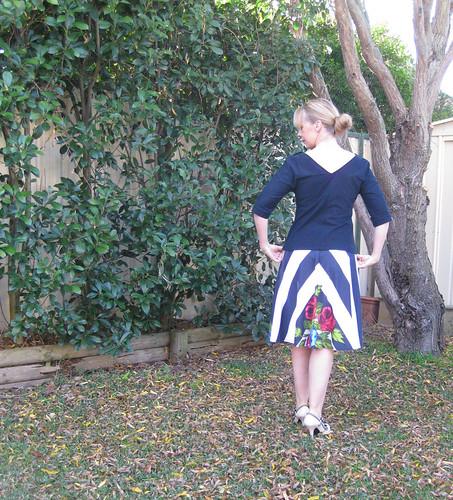 Sewing Cake Cabarita Top, Tiramisu Skirt
