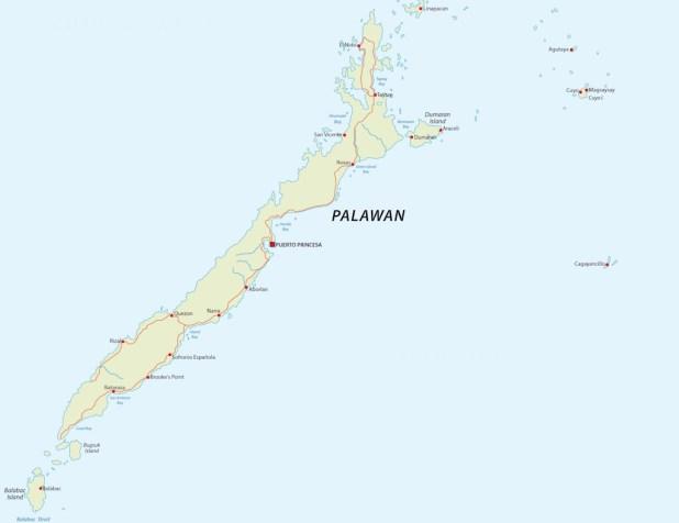 Mapa de Palawan