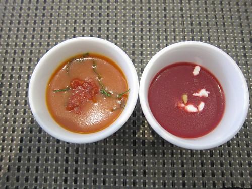 Tomato & beet soup @ The Cake Club