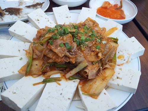 Chodang Soon Tofu - tofu kimchi