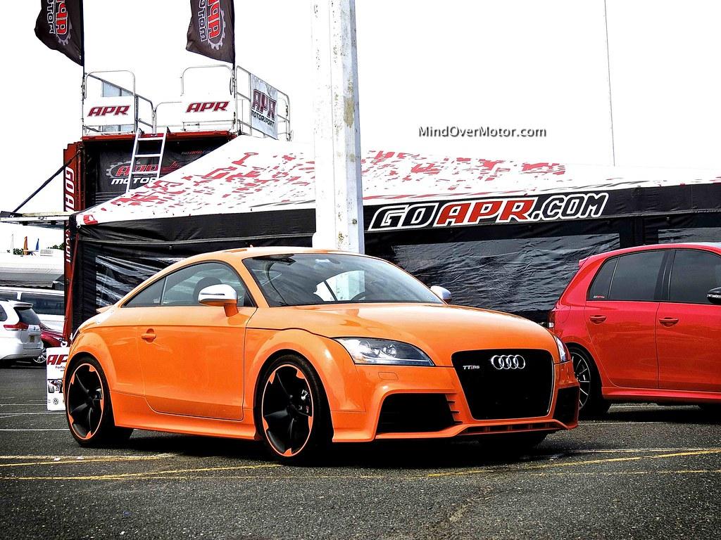 Orange Audi TT RS