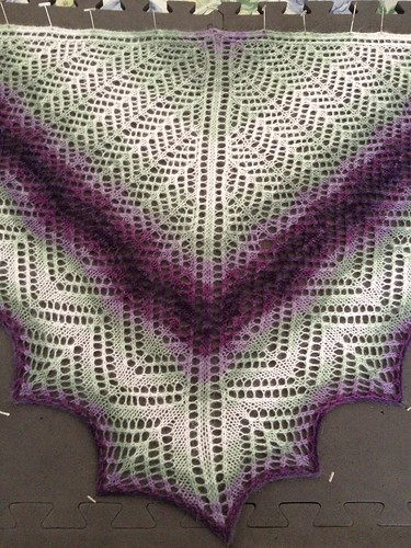 Finished Mystery Shawl 5
