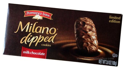 Limited Edition Pepperidge Farm Milk Chocolate Dipped Milano Cookies