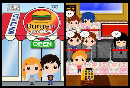 Screenshots from Tiny Shops Burgers