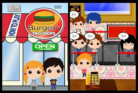 Screenshots from Tiny Shops Burgers