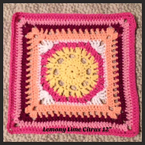 Lemony Lime Citrus Square in Pink