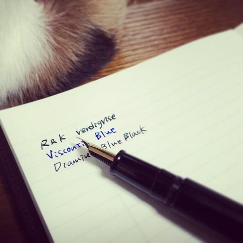 文房堂オリジナルノートに書いてみた。滲みはほとんどない。 #stationery #note #notebook