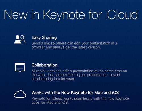 iCloud - Keynote