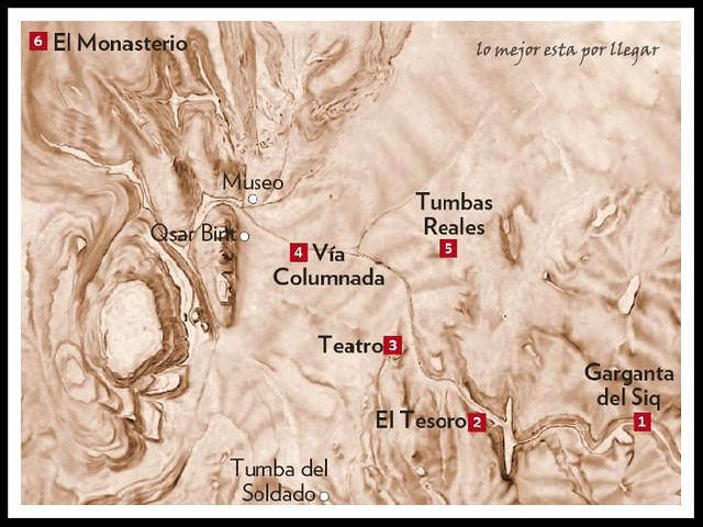 mapa de petra