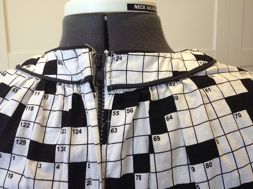 crossword dress #1 plastic back zip