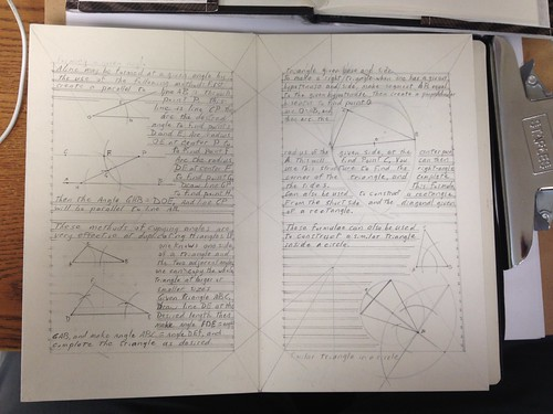 Thirty Days of making: geometry text pages