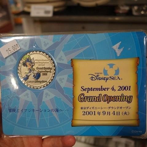 東京ディズニーシーのオープニング記念コイン。