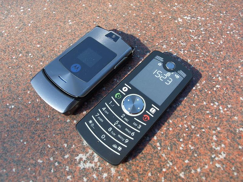 Motorola Razr V3i and Motorola F3