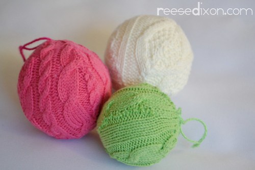 Sweater Ball Ornament Tutorial