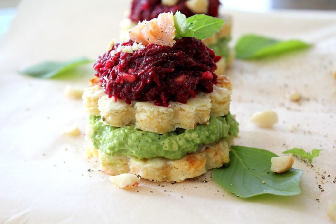 cauliflower stacks