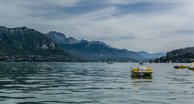 Pedalo, Lake Annecy, France