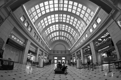 Union Station through the eye of a fish on land by David Graus