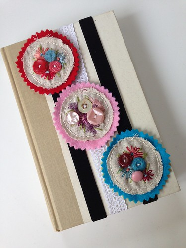 Bookmarks redo with velvet and lace elastic
