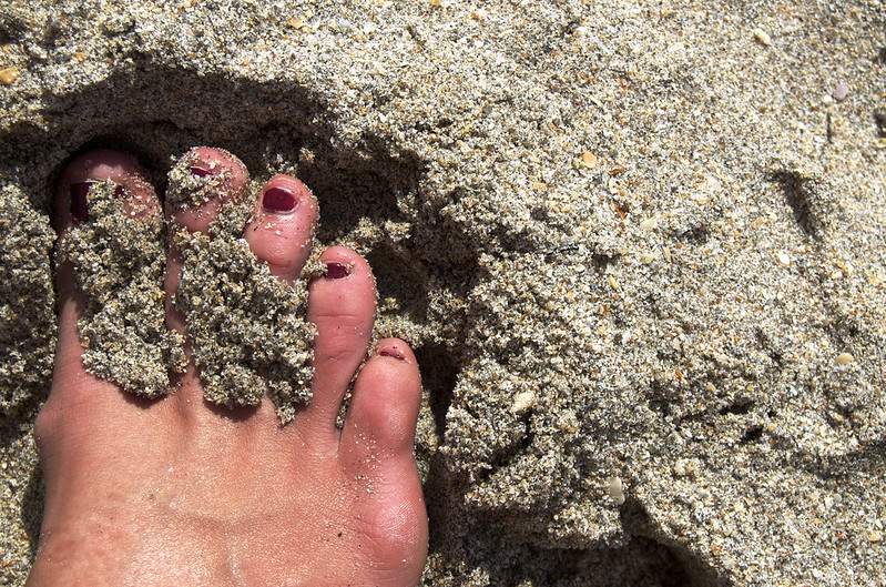 Toes on Deerfield Beach
