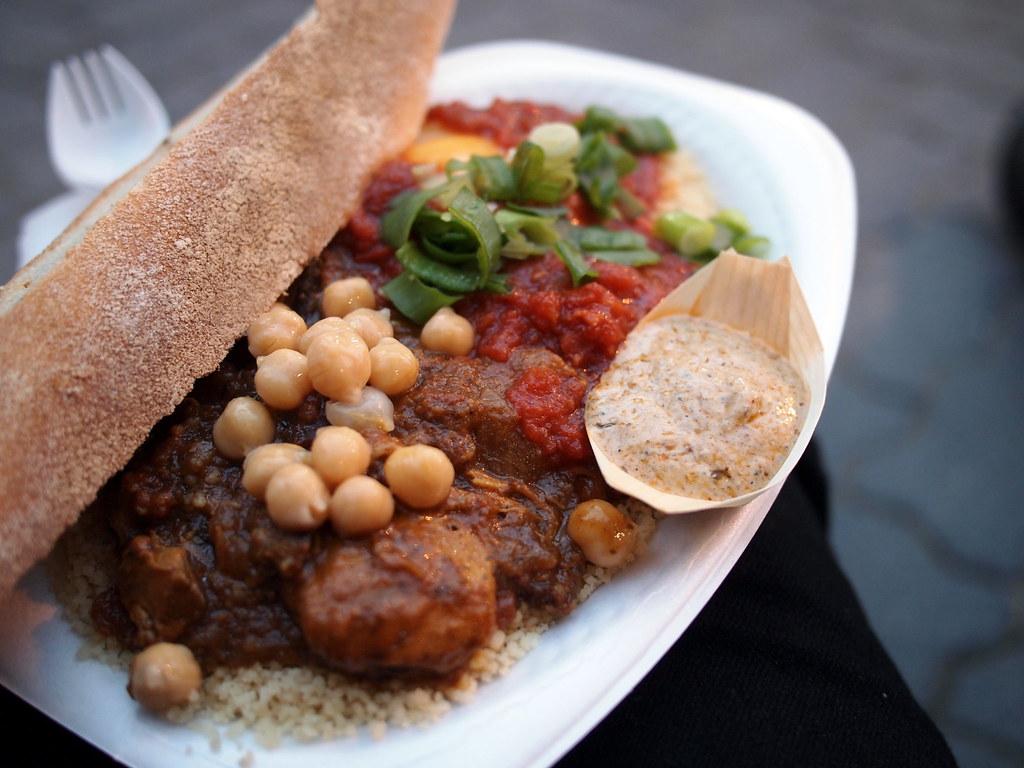 Shakshouka; chicken with chickpeas