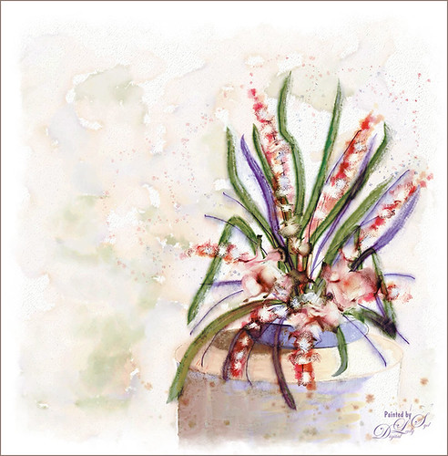 Floral Arrangement Image created in Corel Painter and Photoshop