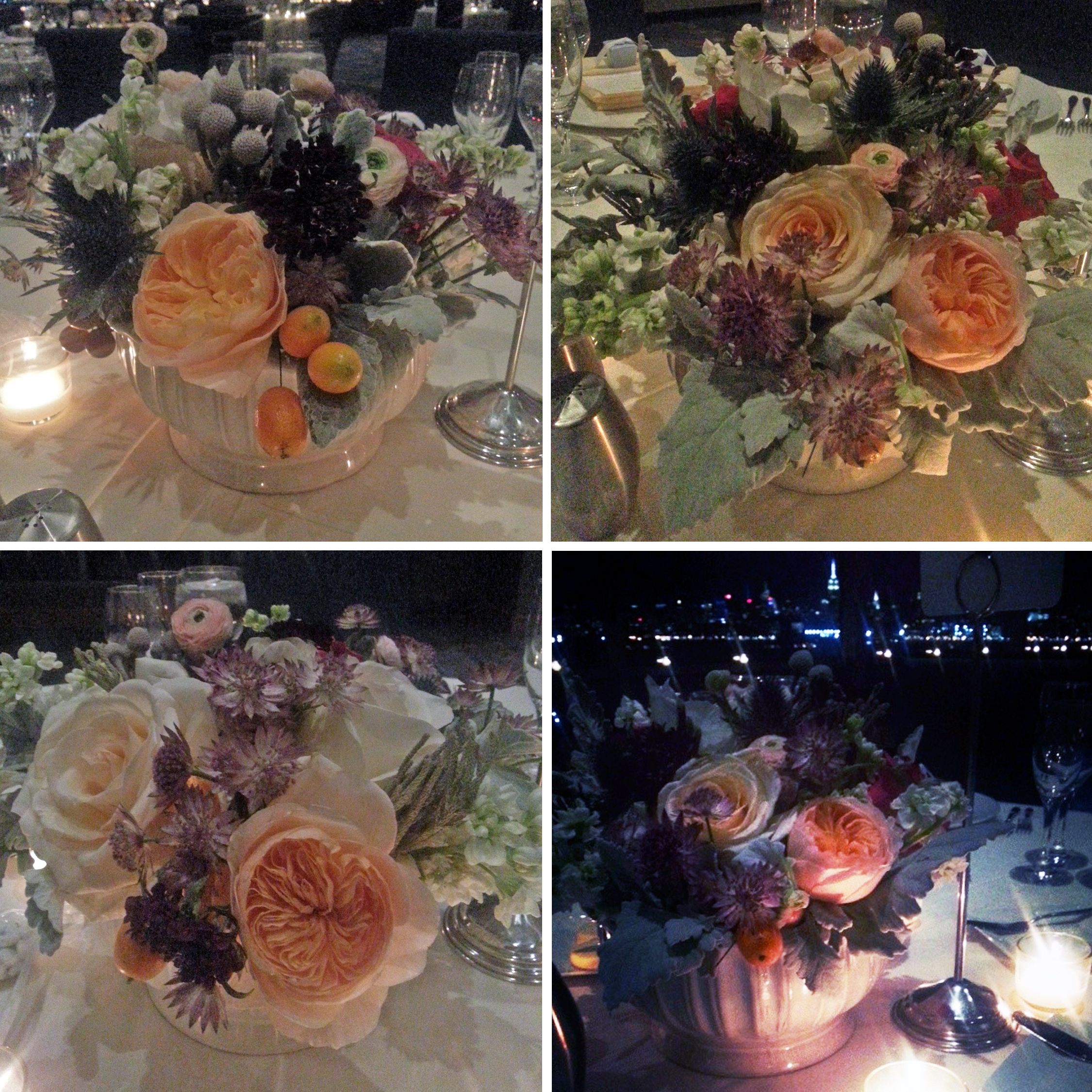 wedding flowers night