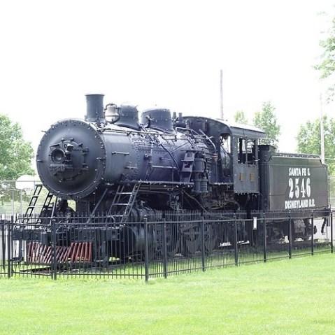 機関車も静態保存。