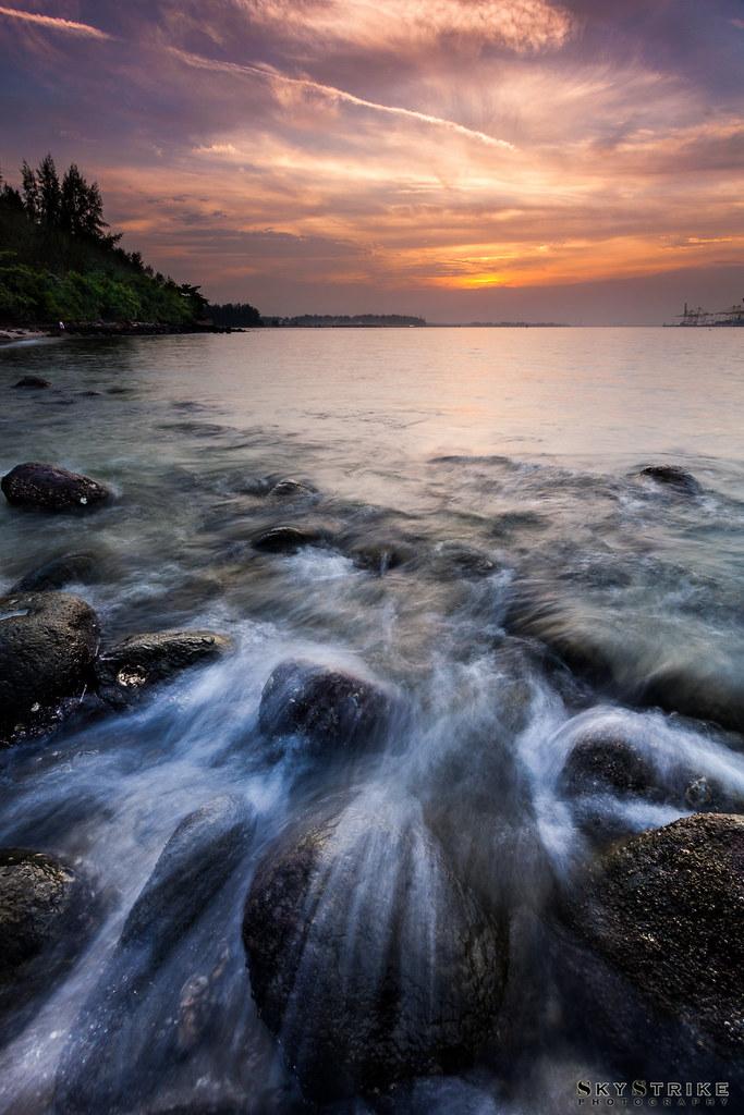 Seascape Sunset @ Punggol Beach