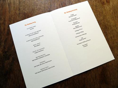 Wedding Program Template - Dahlia (Inside)
