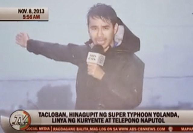 atom araullo reporting in tacloban
