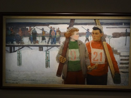 The skiers, by Anatoly Nikich. (1950s).