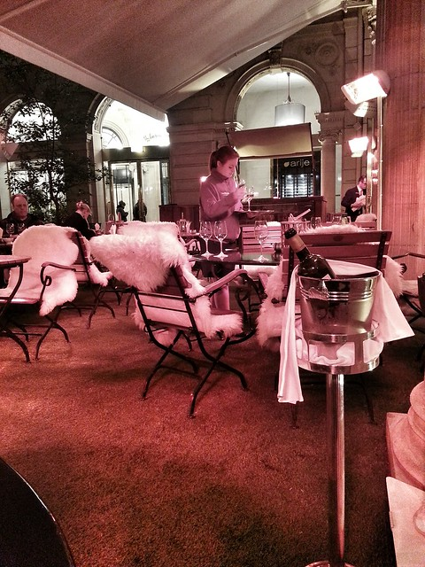 winter lounge at the Westin.