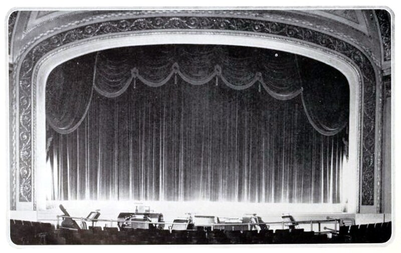Stillwell Theatre, Brooklyn NY in 1927 - Proscenium Arch and curtains