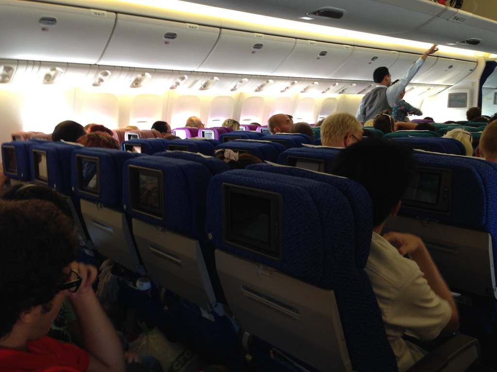 Economy Class Seat on Malaysia Airlines' 777-200