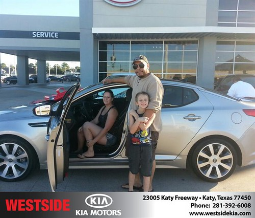 Thank you to Rosemary Tipton on your new 2013 #Kia #Optima from Rubel Chowdhury and everyone at Westside Kia! #NewCarSmell by Westside KIA