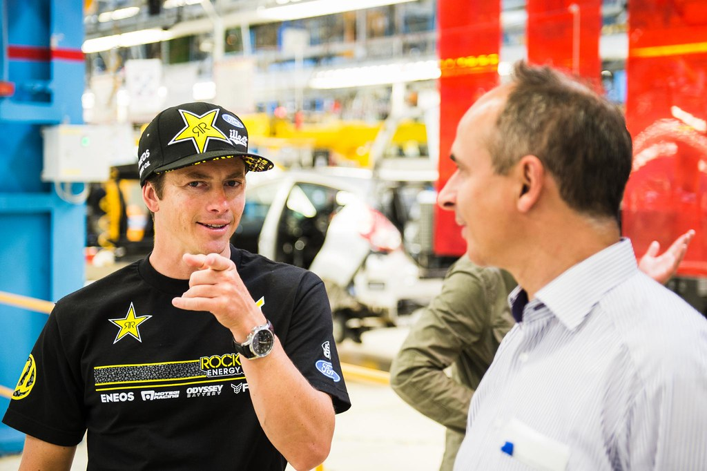 Tanner Foust at Ford Germany HQ