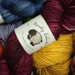 New yarns, new colorways, new label. Isn't that sheep cute?