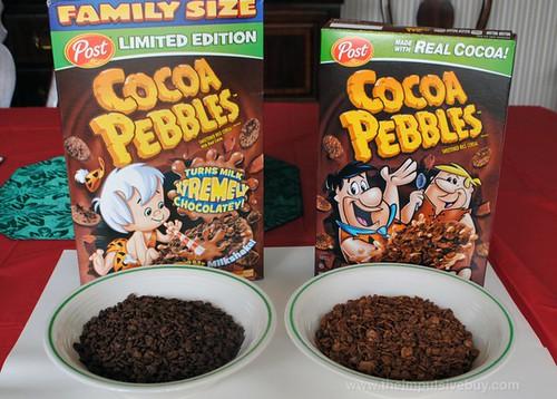 Limited Edition Post Xtreme Cocoa Pebbles Comparison