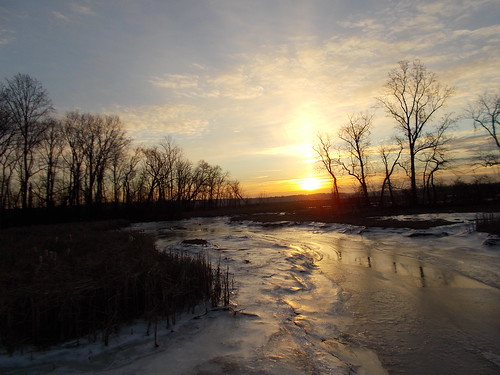 Icy Sunrise over Dyke Marsh - 1/9/2014 by Rootchopper