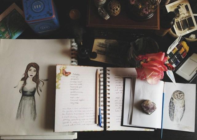 journaling & sketching
