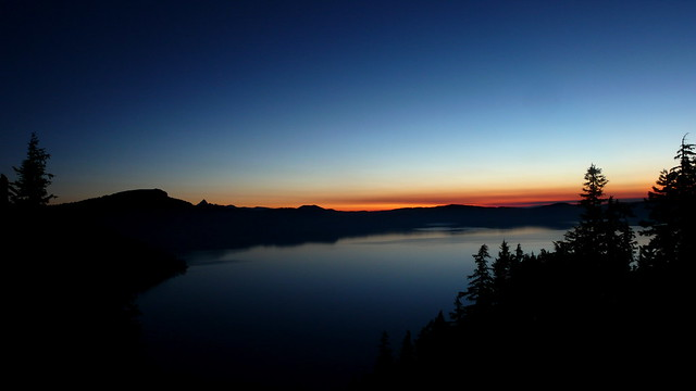 Dawn at Crater Lake