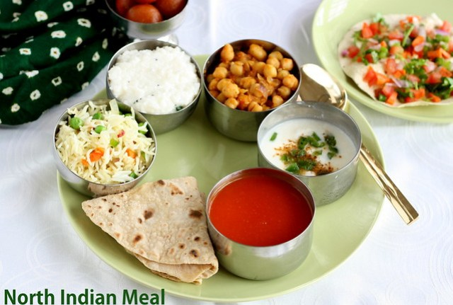 North indian meal