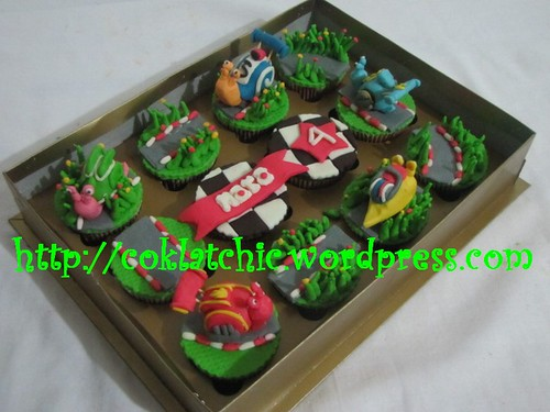 Cupcake set turbo snail